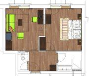 Alpenrose Obertauern - Plan Familien Studio